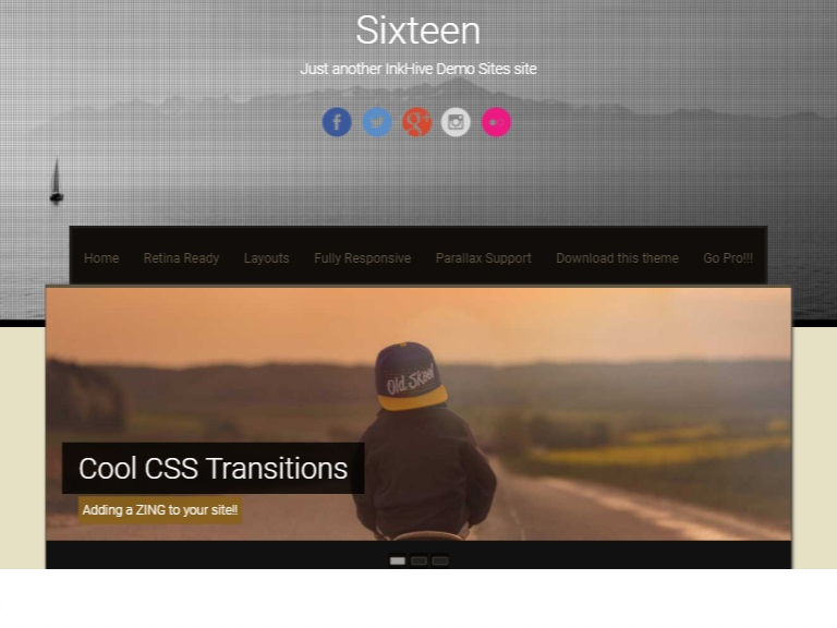 Sixteen Theme in Free Photography WordPress Themes