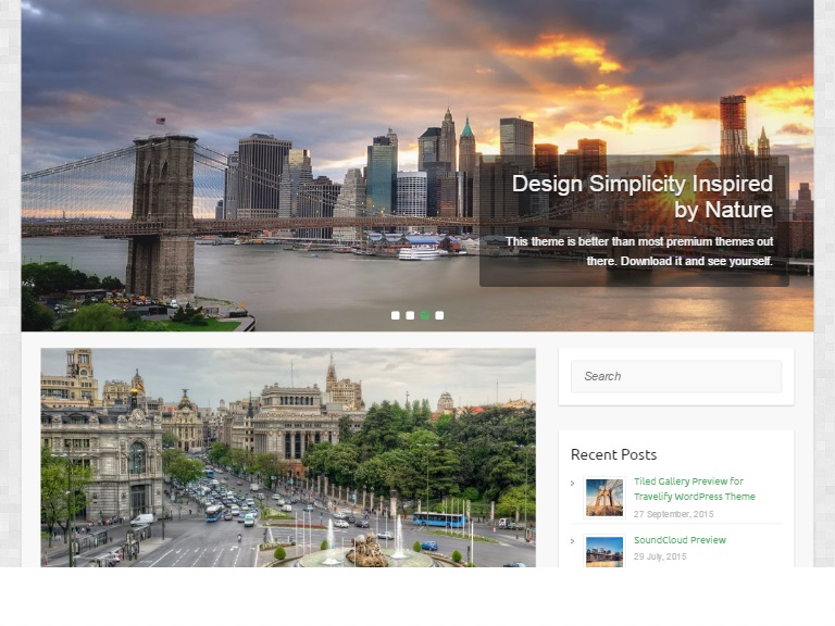 Travelify WordPress Travel Blog Template