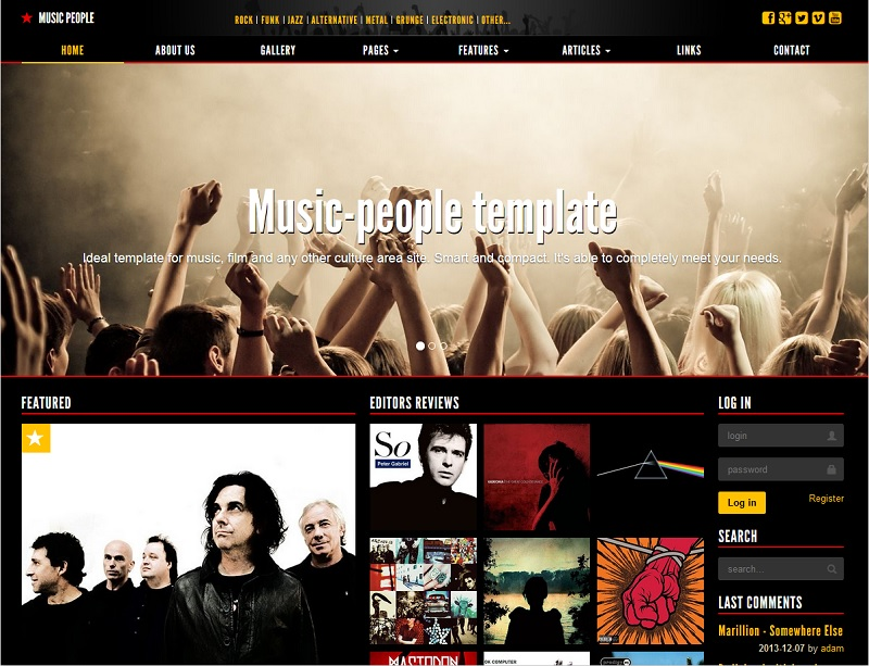 Music People Events Template