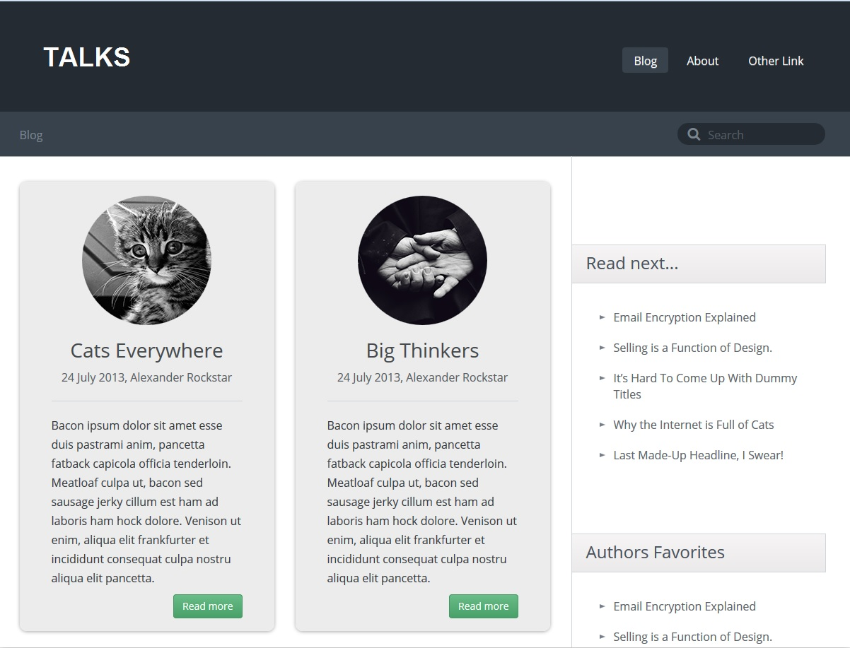Talks Blog Website Template