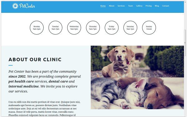 Pet Center Animal Template