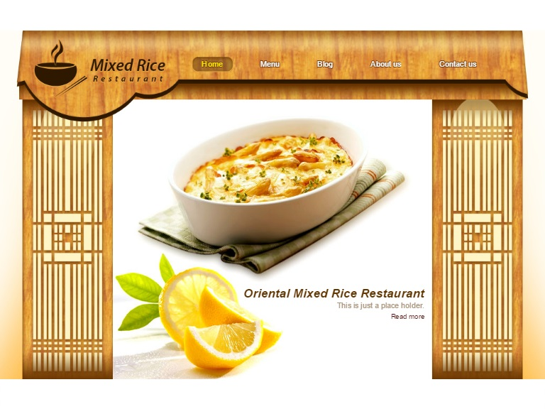 Mixed Rice Wbsite Template