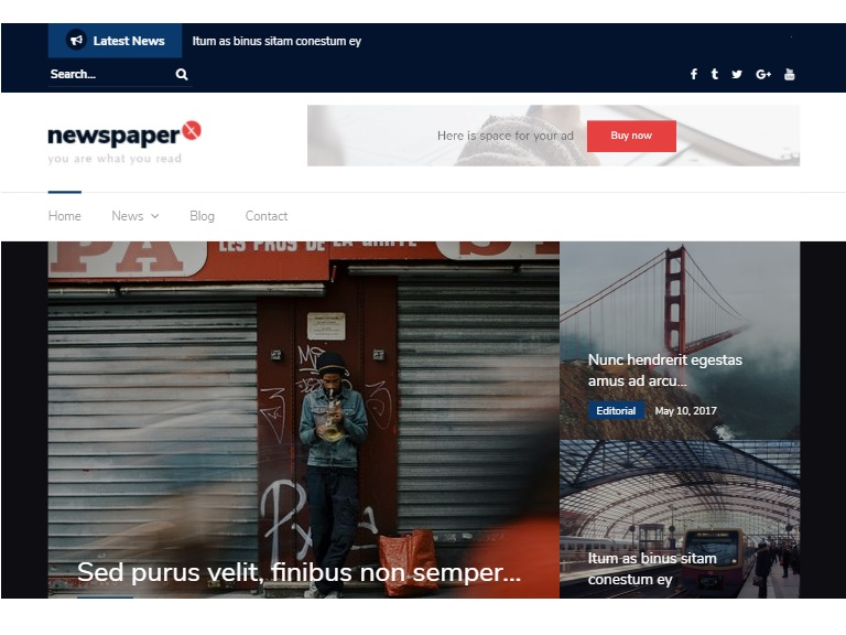 Newspaper X in Free Photography WordPress Themes