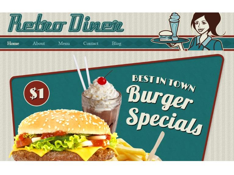 Retro Diner Website Template