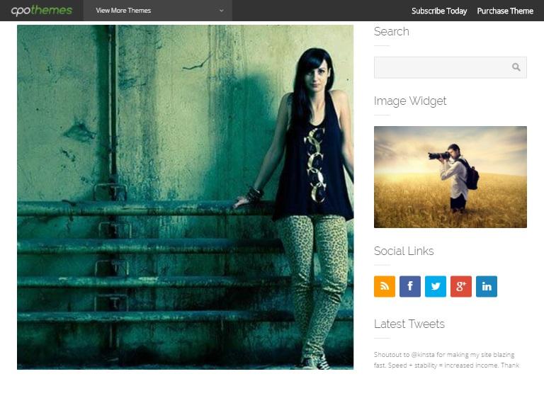 Transcendant WordPress Webpage Template