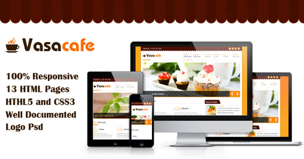 vCafe Restaurant Template