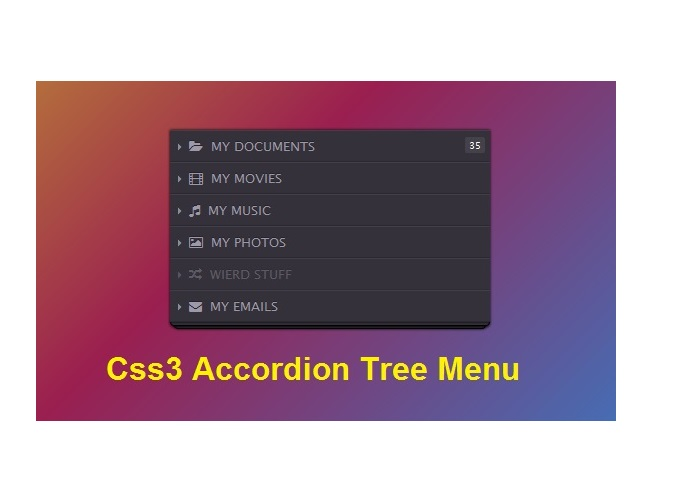 css3 Accordion Tree Menu
