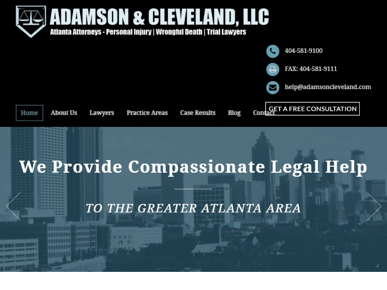 Adamson & Cleveland Law Firm Pawered by Lawyers Theme