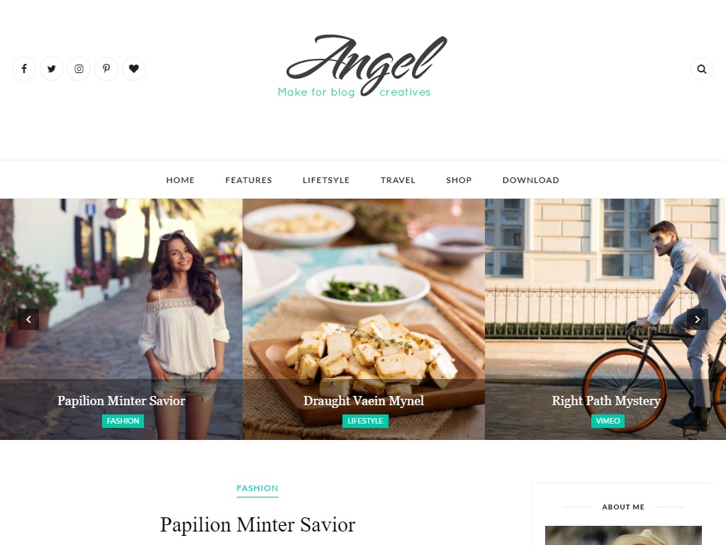 Angel Lifestyle in Free Fashion Templates