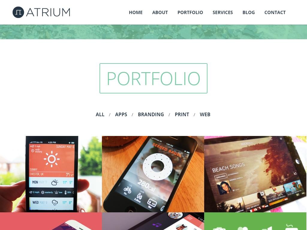 atrium portfolio template