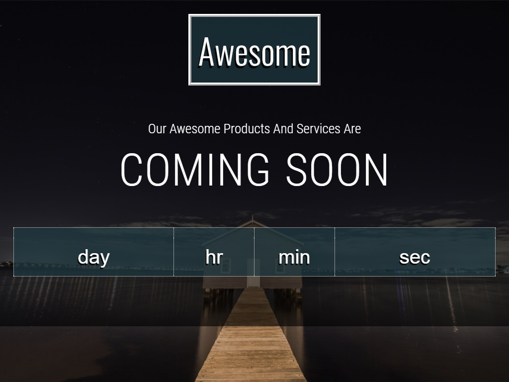 awesome free coming soon under construction template