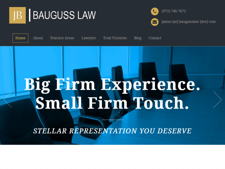 bauguss law lawyers theme
