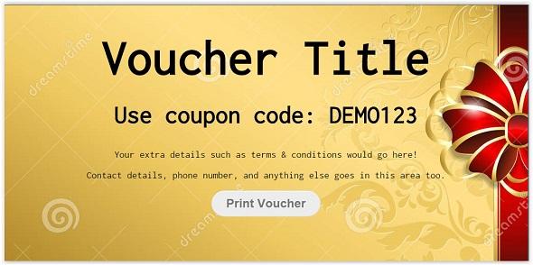 css3 Voucher Code Template