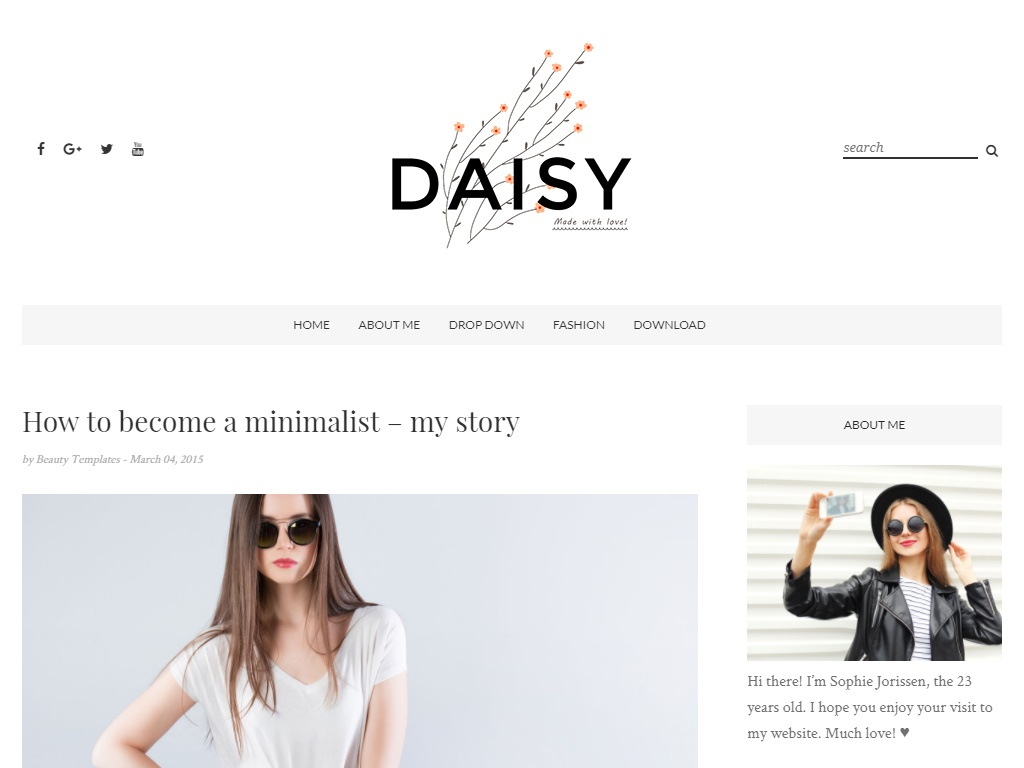 Daisy Free Fashion Template