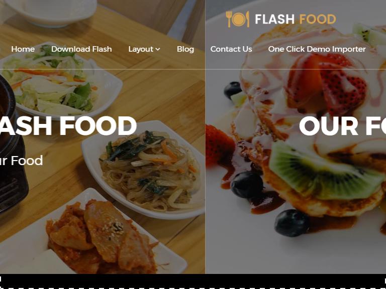 flash multipurpose free restaurant wordpress themes