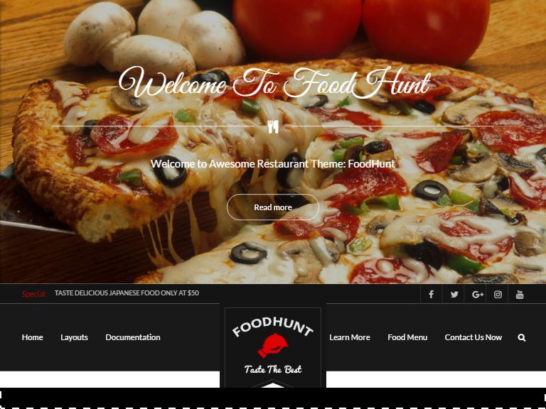 food hunt free restaurant theme