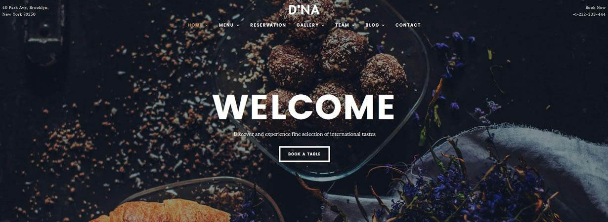 free restaurant templates collection free website templates