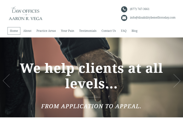 Disability benefits lawyers theme