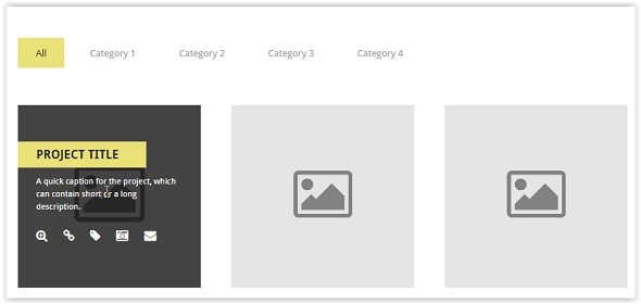 css3 Filterable Multimedia Gallery