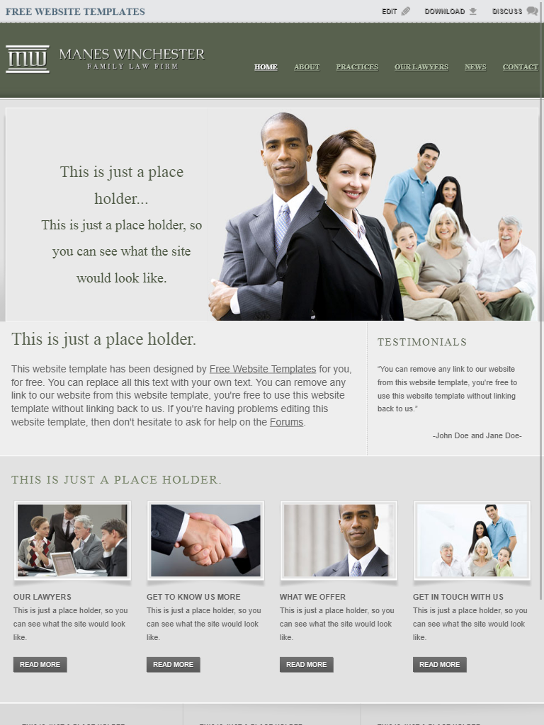 Lawyer Templates Collection - Free Website Templates