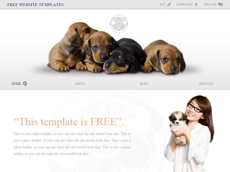 Free doggy puppy template