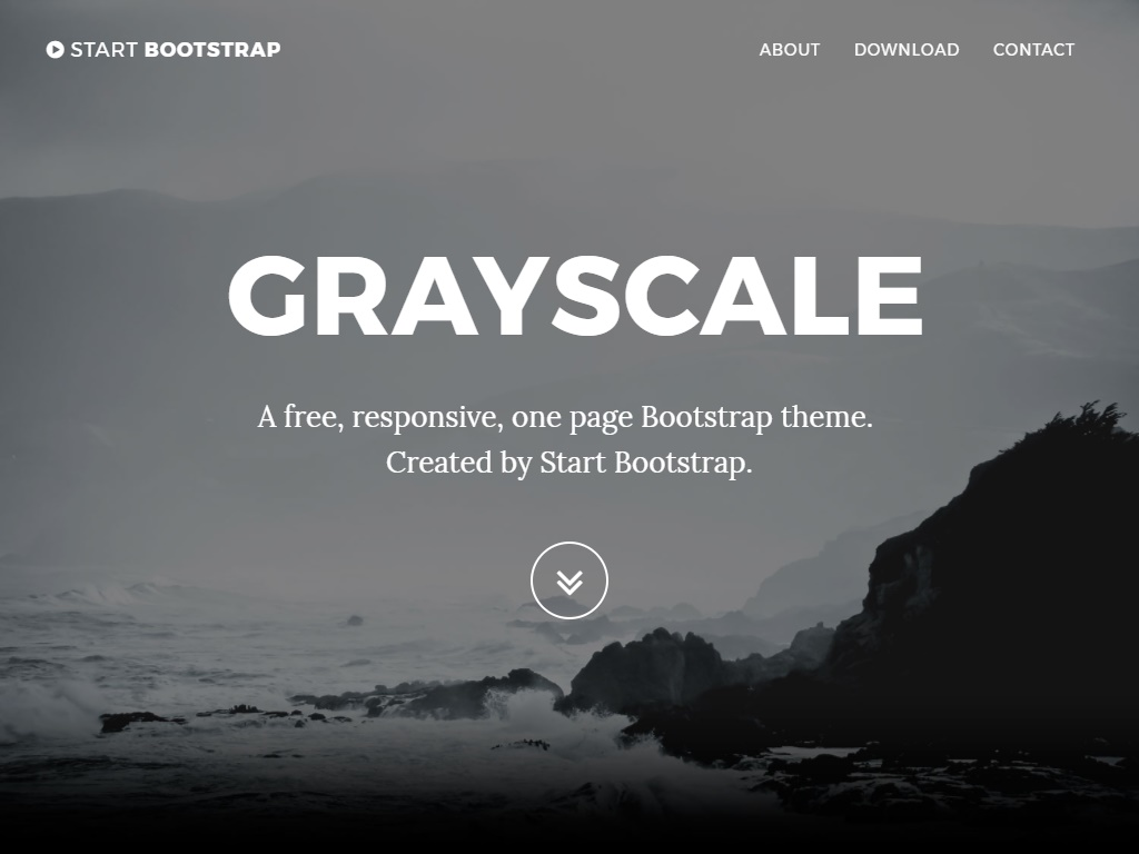 grayscale free portfolio website templates
