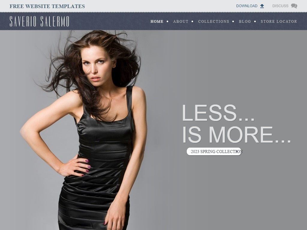 Free Fashion Templates Collection Free Website Templates