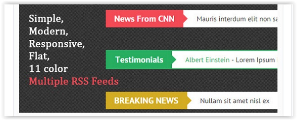 Unlimited News Ticker Feeds