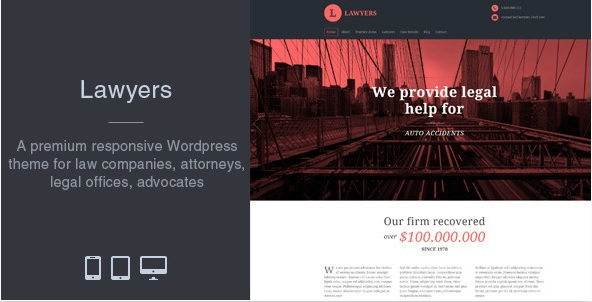 Lawyers Theme Websites Collection