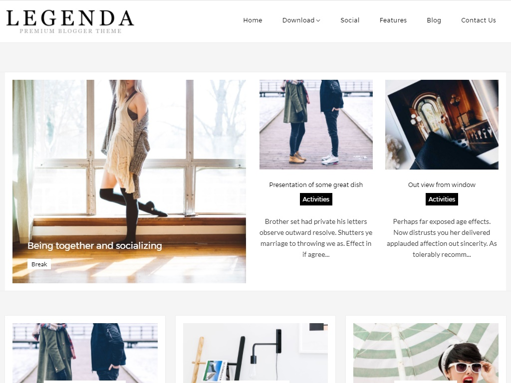 Legenda Free Fashion Template