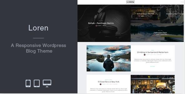 loren responsive blog theme