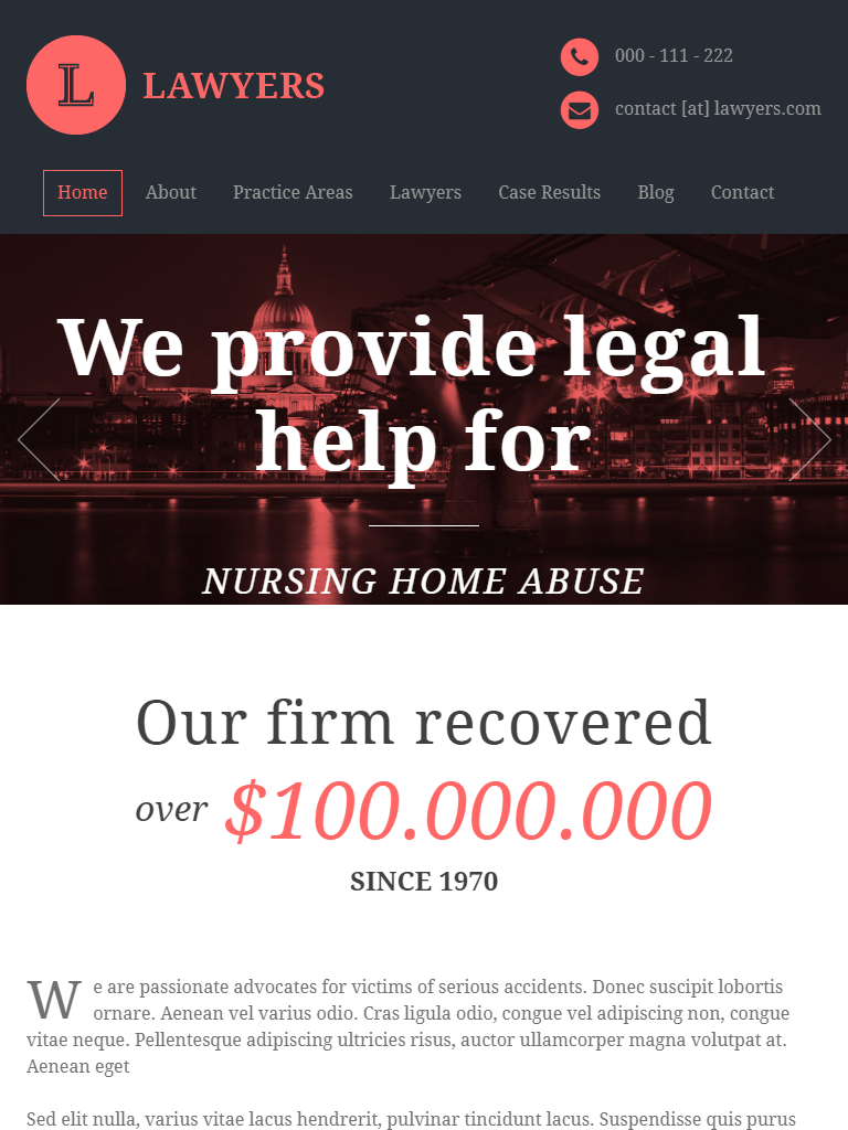 Best Legal TDesign in Lawyer Templates