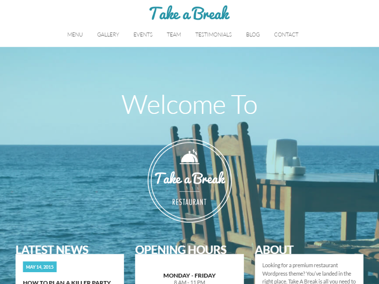 TakeABreak one of the best free wordpress themes