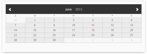 compact Events Calendar