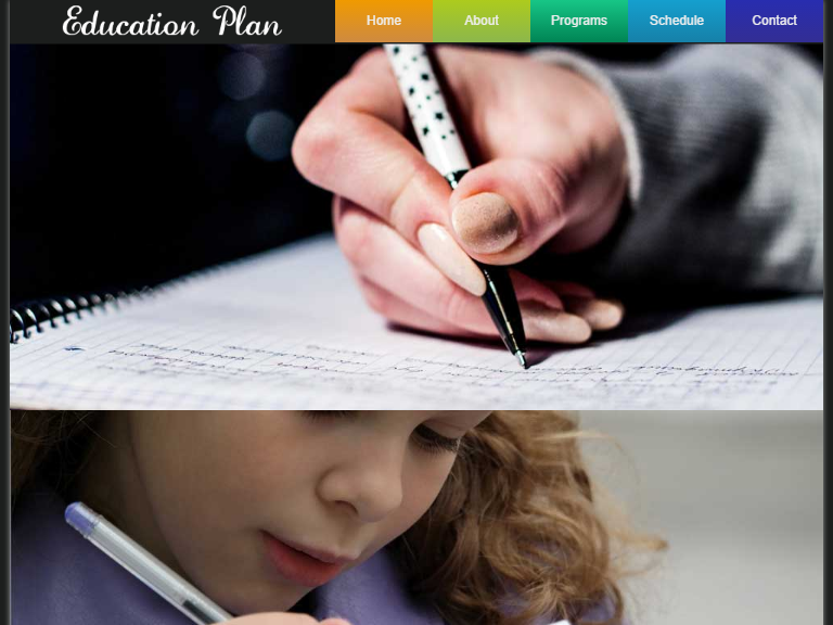 Free Education centres web template
