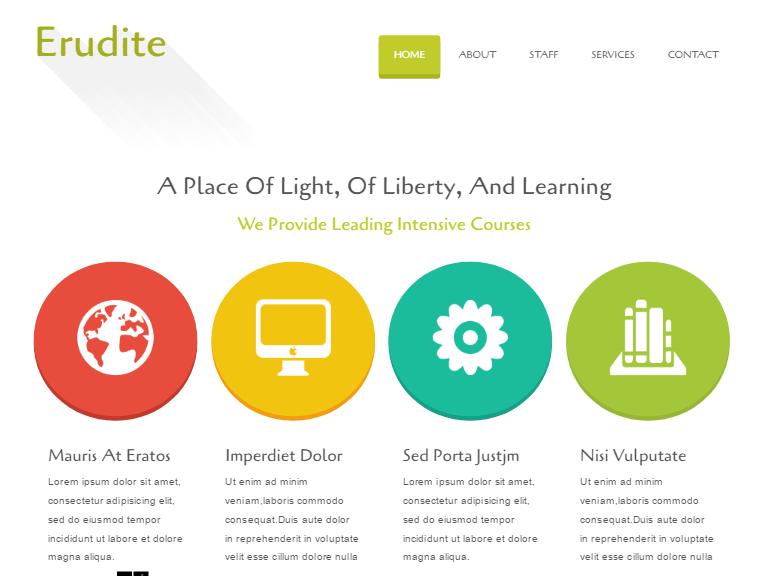 Free Erudite Education Website Template