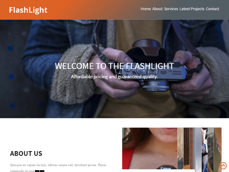 Flash light theme
