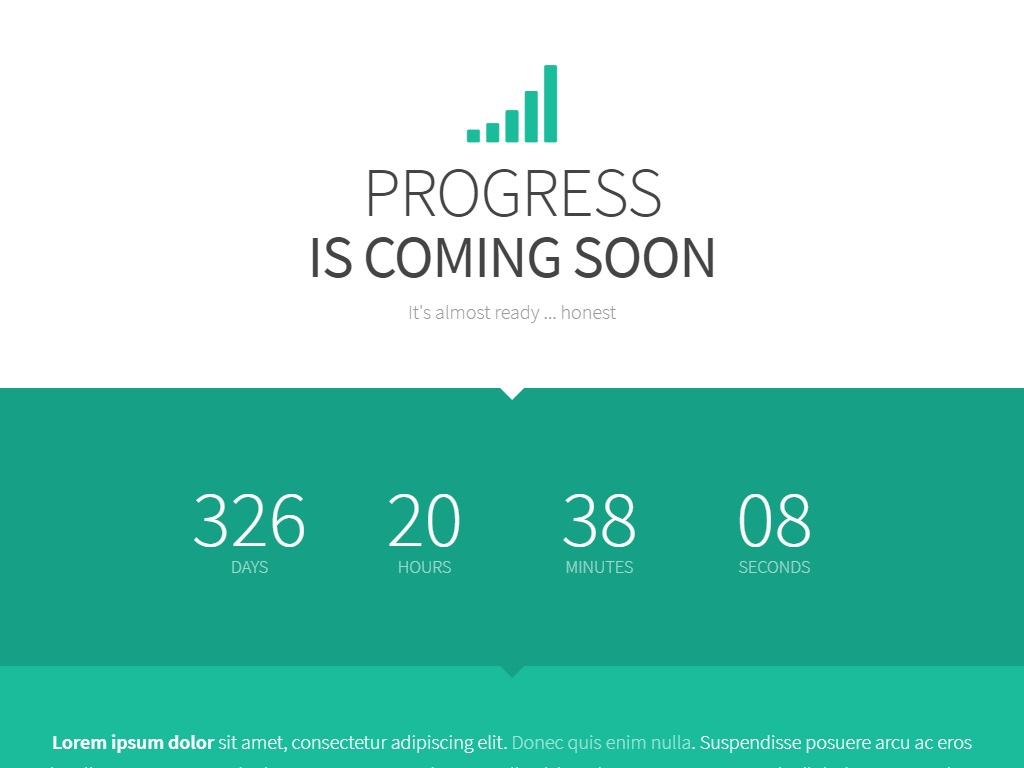 progress free coming soon under construction template