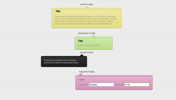 css3 ToolTip Component Template