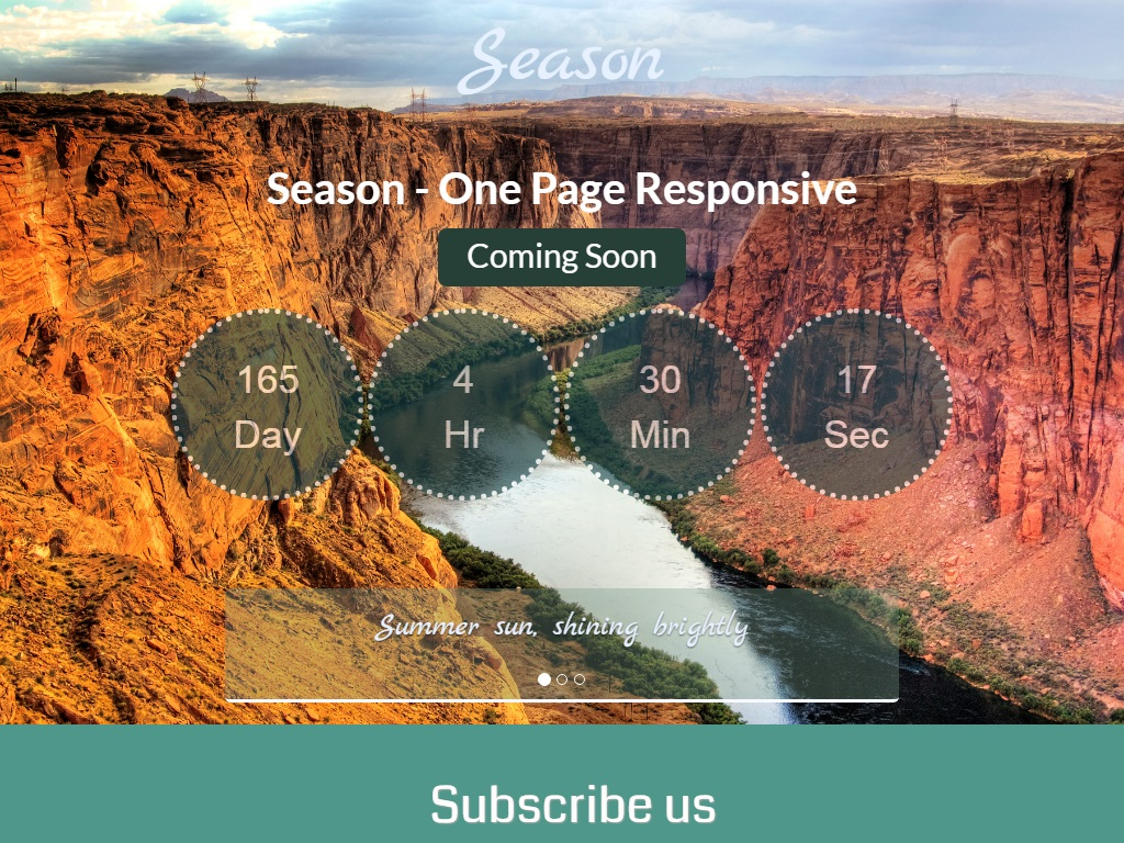 season free coming soon under construction template