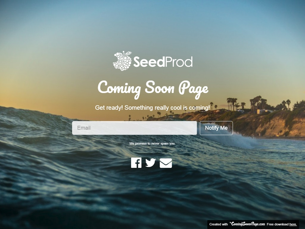 seedprod free coming soon under construction template