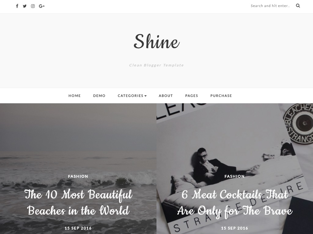 Shine Html5 Fashion Template
