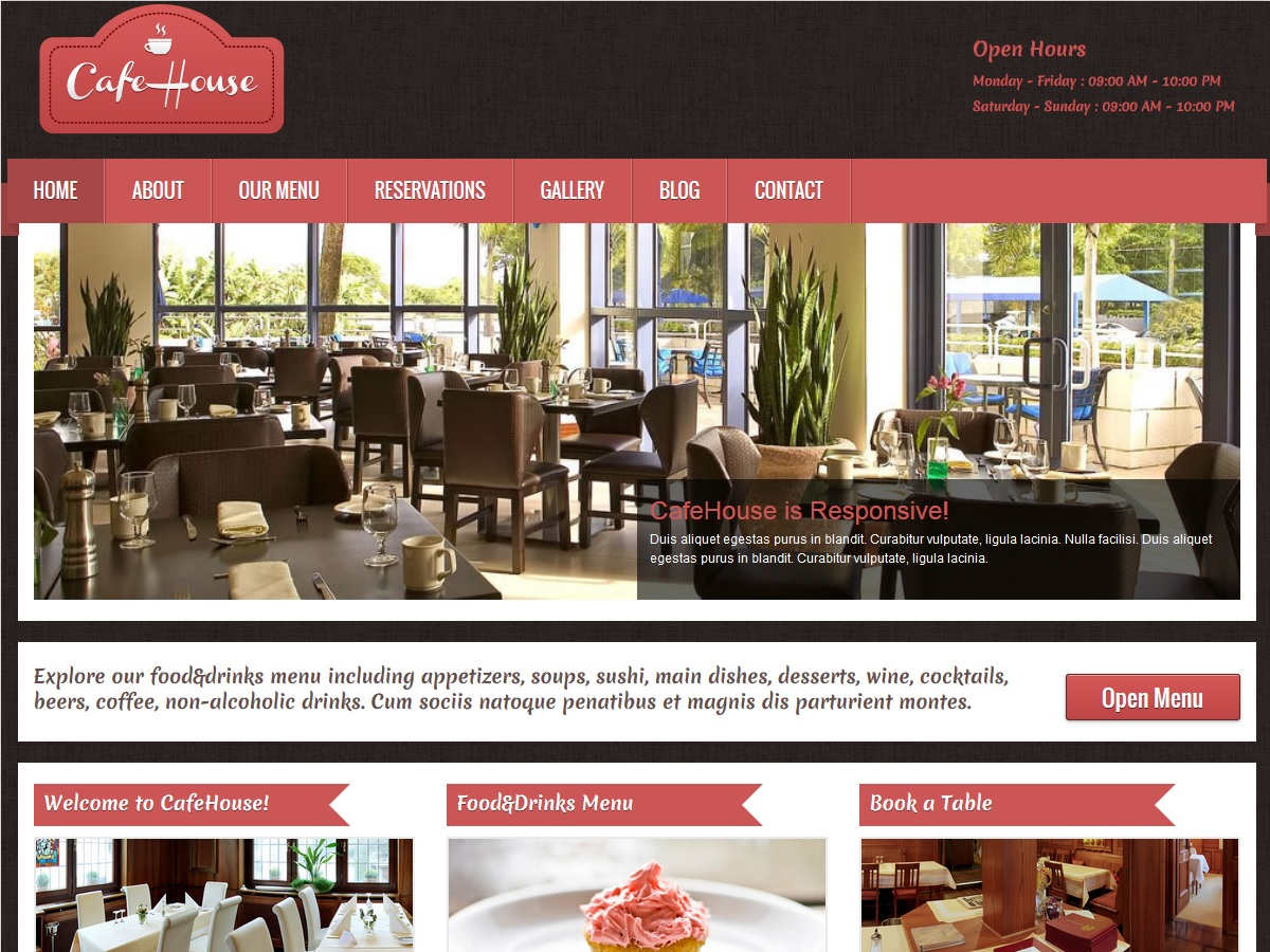 CafeHouse Restaurant Theme