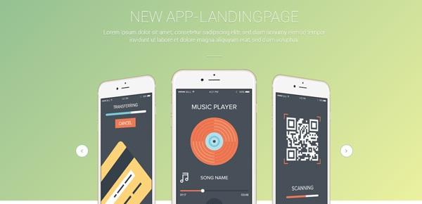 skewApp Landing Page Template