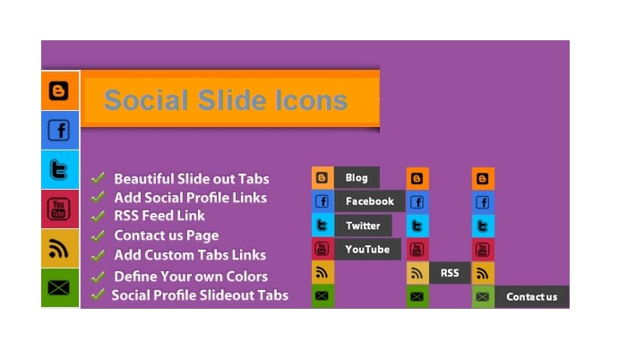social Slide Icons Navigation