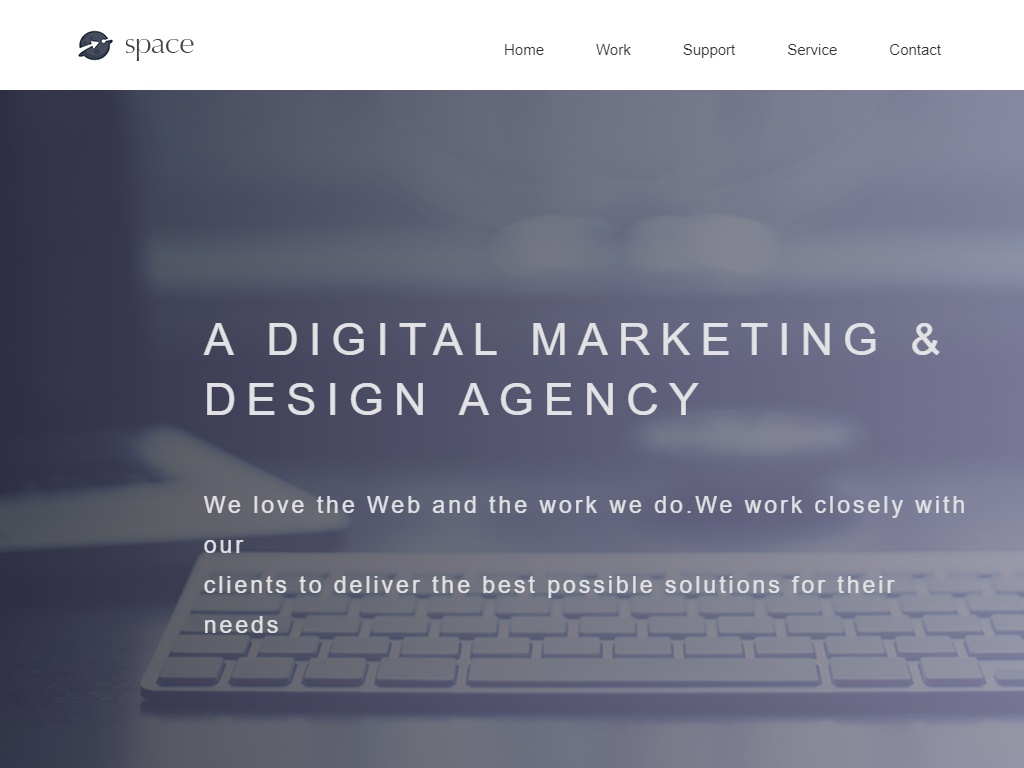space agency top free portfolio website templates