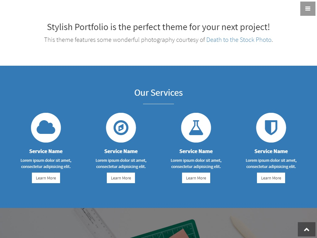 stylish portfolio template