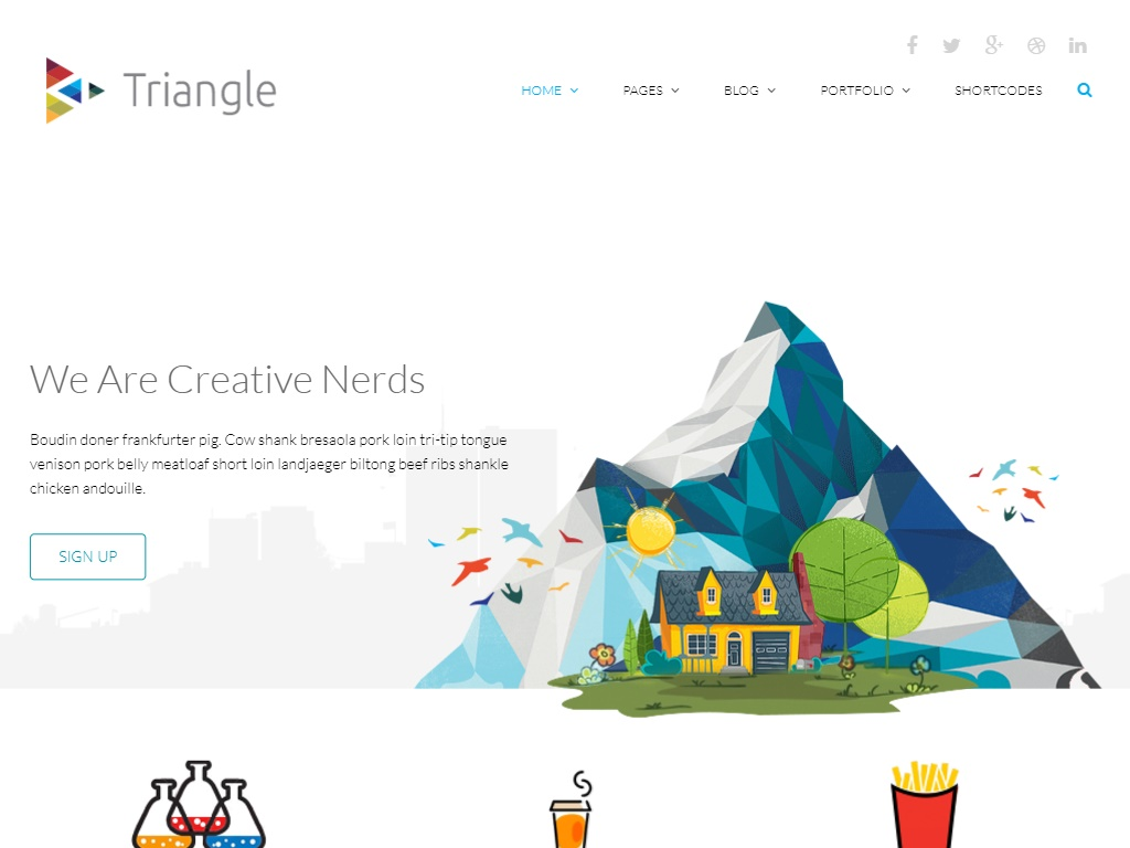 triangle template in free portfolio website templates