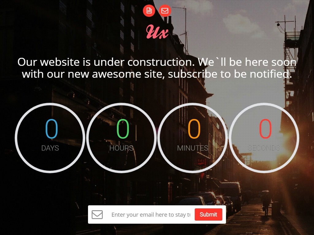ux free coming soon under construction template