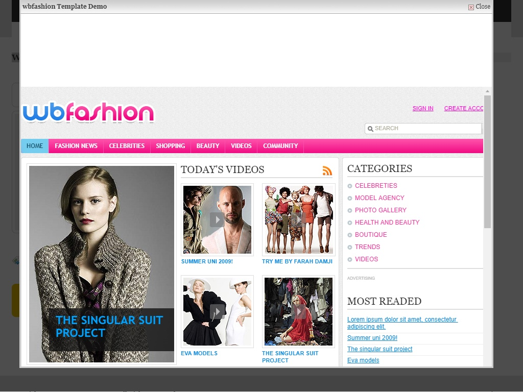 Fashion Free Css Template